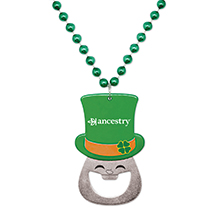 St. Patrick's Bottle Opener Bead
