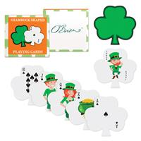 Shamrock Shaped Playing Cards