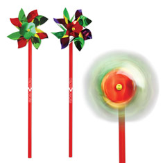 "4"" Rainbow Pinwheel"