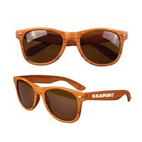 Dark Faux Wood Sunglasses - UV