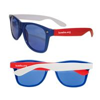Kid's Red, White, & Blue Iconic Sunglasses