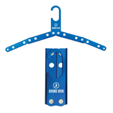 Blue Metal Foldable Travel Hanger