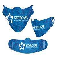 Holiday Blue Snowflake Cooling Fiber Mask