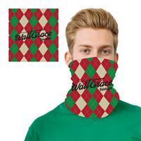 Argyle Design 2 Layer Cooling Fiber Headband Mask