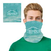 Winter Holiday Design 2 Layer Cooling Fiber Headband Mask