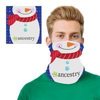 Snowman Design 2 Layer Cooling Fiber Headband Mask