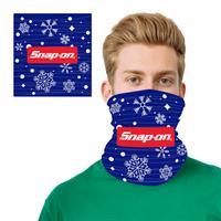 Holiday Blue 2 Layer Cooling Fiber Headband Mask