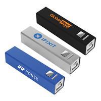 Square Metal 2200 mAh Power Bank
