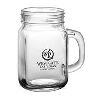 14 oz. Glass Mason Jar with Handle