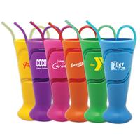 Krazy Straw Soda Fountain Cups, Assorted Colors
