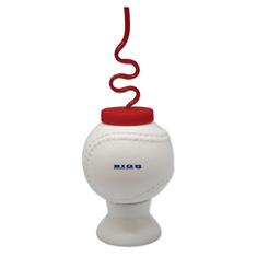Krazy Straw Baseball Cups