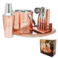 9 Piece Copper Bar Set