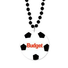 Soccer Medallion W/Beads